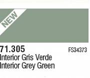 Farba Vallejo Model Air 71305 INT. Grey Green 17ml