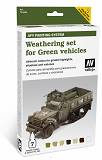 Farby Vallejo Zestaw 78406 Weathering for Green vehicles