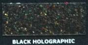 Brokat Metal Flake Holographic Black 50g (L) 400µm