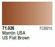 Farba Vallejo Model Air 71026 US Flat Brown 17ml