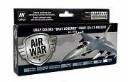 "Farby Vallejo Zestaw 71156 USAF Colors ""Gray Schemes"" from 70's to present"