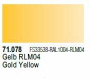 Farba Vallejo Model Air 71078 Gold Yellow 17ml
