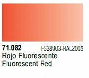 Farba Vallejo Model Air 71082 Fluorescent Red 17ml