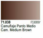 Farba Vallejo Model Air 71038 Camo. Medium Brown 17ml
