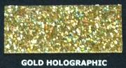 Brokat Metal Flake Holographic Gold 50g (L) 400µm