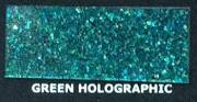 Brokat Metal Flake Holographic Green 50g (M) 200µm