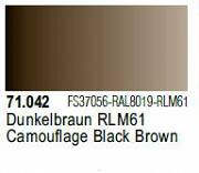 Farba Vallejo Model Air 71042 Camouflage Black Brown 17ml
