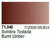 Farba Vallejo Model Air 71040 Burnt Umber 17ml