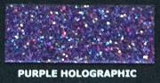Brokat Metal Flake Holographic Purple 50g (L) 400µ