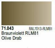 Farba Vallejo Model Air 71043 Olive Drab 17ml