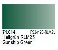 Farba Vallejo Model Air 71014 Gunship Green 17ml