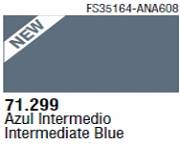 Farba Vallejo Model Air 71299 Intermediate Blue 17ml